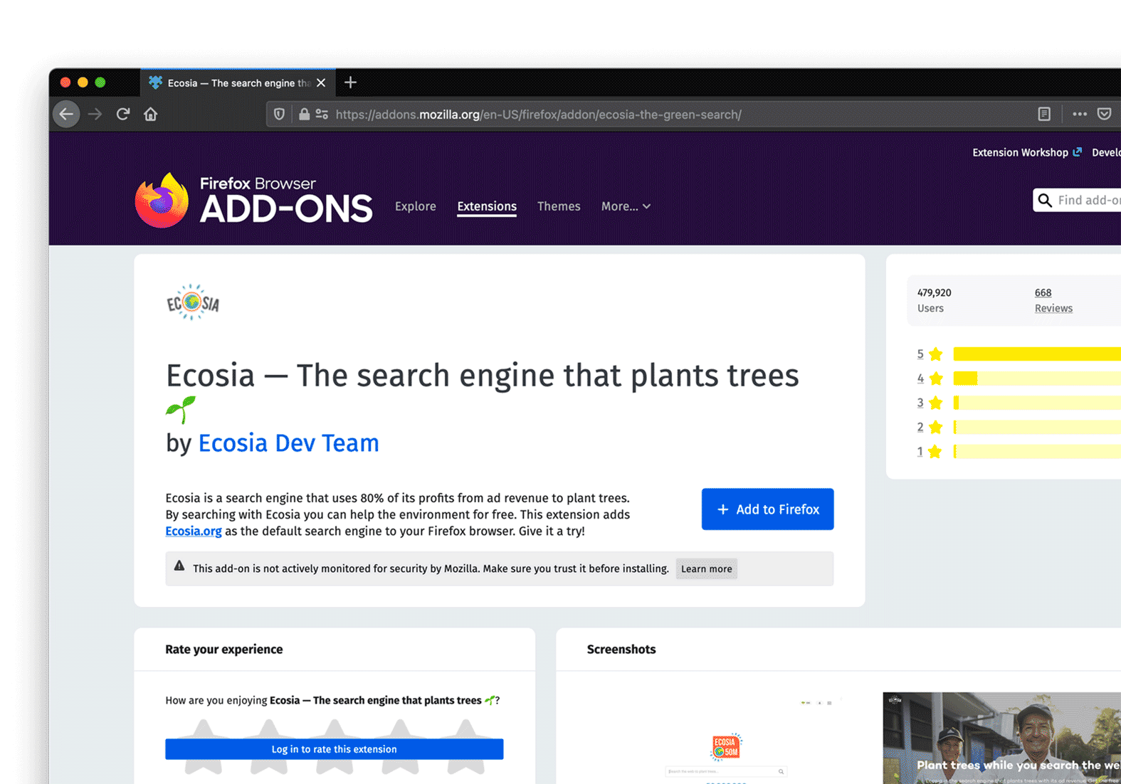 How to use Ecosia on your mac